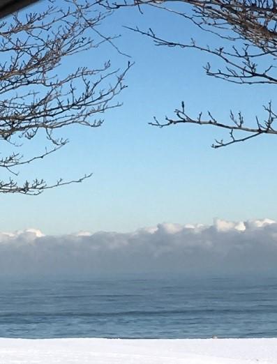 Crisp blue sky