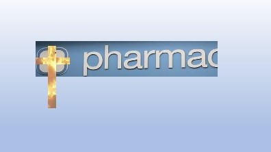 Cross on a pharmacy sign