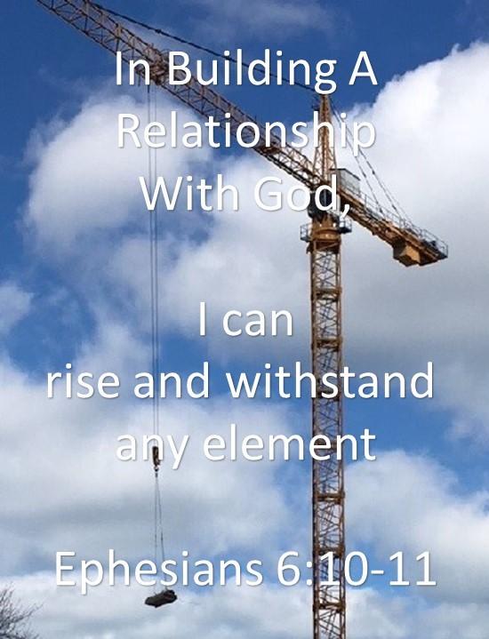 Building Crane to build a building