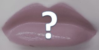 Lips with question mark